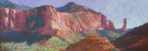 A Grand View 9x24 pastel by Michael Chesley Johnson