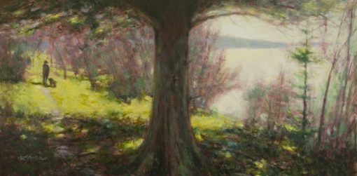 A Walk in Springtime 12x24 oil by Michael Chesley Johnson