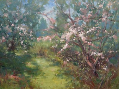 Apple Tree Dance 18x24 oil by Michael Chesley Johnson