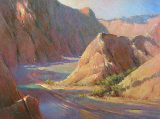 Approach to Phantom Ranch 18x24 oil by Michael Chesley Johnson