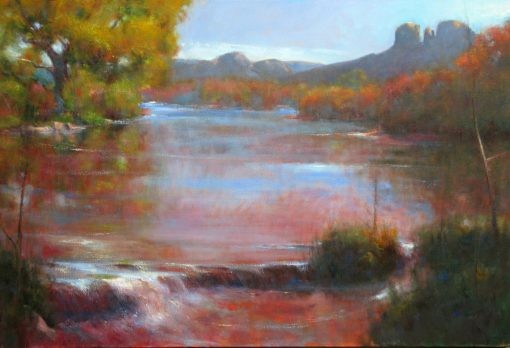 Autumn's Turn 24x36 oil by Michael Chesley Johnson