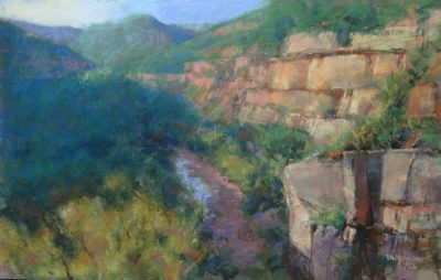 Canyon Light 12x18 pastel by Michael Chesley Johnson