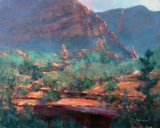 December Morning in the Desert 24x30 by Michael Chesley Johnson