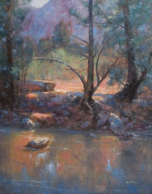 Dry Creek Snag 30x24 oil by Michael Chesley Johnson