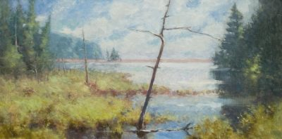 End of the Road 12x24 oil by Michael Chesley Johnson