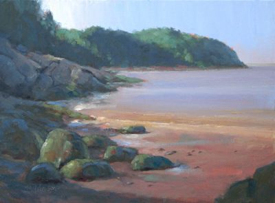 Flood Tide at Dawn 12x16 oil by Michael Chesley Johnson