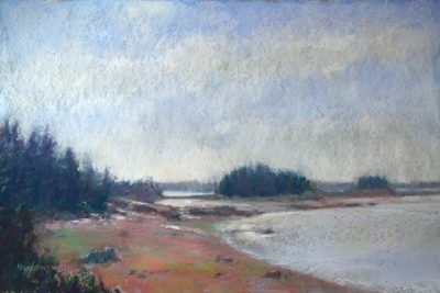 Fog Lifts 12x24 pastel by Michael Chesley Johnson