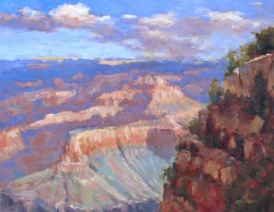 West of Hopi Point 12x16 oil by Michael Chesley Johnson