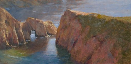 Gibson Beach 12x24 oil by Michael Chesley Johnson