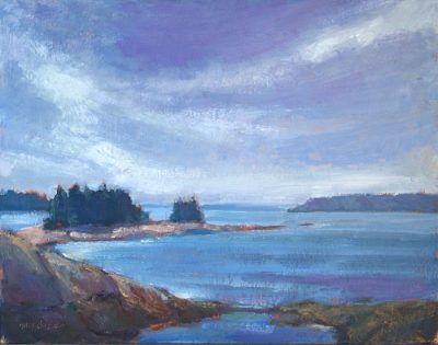 Glare and High Tide 11x14 oil by Michael Chesley Johnson