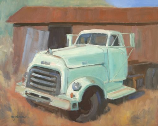 GMC Diesel 16x20 oil by Michael Chesley Johnson