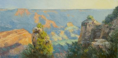 Grand Canyon Gold 12x24 oil by Michael Chesley Johnson