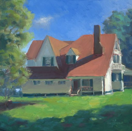 Hubbard Cottage 12x12 oil by Michael Chesley Johnson
