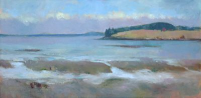 Incoming Weather 12x24 oil by Michael Chesley Johnson