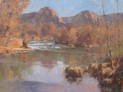 Into the Flow 12x16 oil by Michael Chesley Johnson