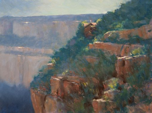Kolb Studio Overlook 12x16 oil by Michael Chesley Johnson