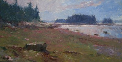 Low Tide Cranberry Point 12x24 oil by Michael Chesley Johnson