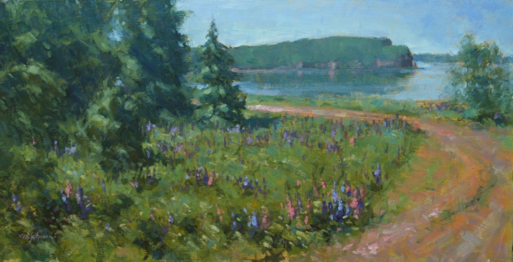 Lupines by the Bay