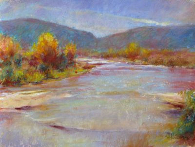 Magical River 9x12 pastel by Michael Chesley Johnson