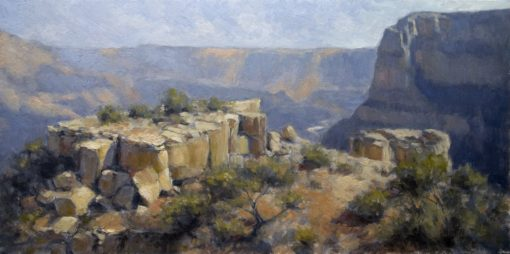 Moran Point 12x24 oil by Michael Chesley Johnson