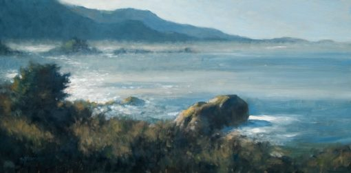 Morning Mist-ery 12x24 oil by Michael Chesley Johnson