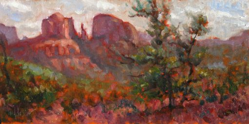 Passing Storm - Sedona Painting by Artist Michael Chesley Johnson