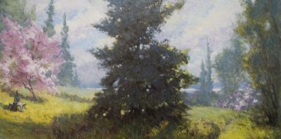 Path to the Sea 12x24 oil by Michael Chesley Johnson