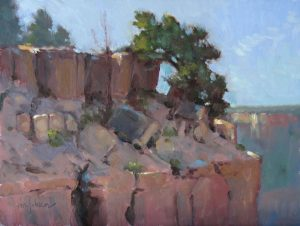 Perched 9x12 oil by Michael Chesley Johnson