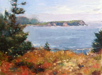 Ragged Point Autumn 9x12 oil by Michael Chesley Johnson