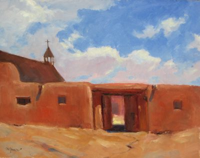 Ranch of the Swallows 9x12 oil by Michael Chesley Johnson