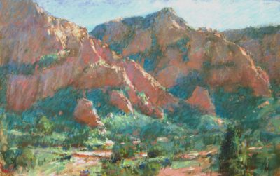 Schnebly Hill Chasm 12x18 pastel by Michael Chesley Johnson