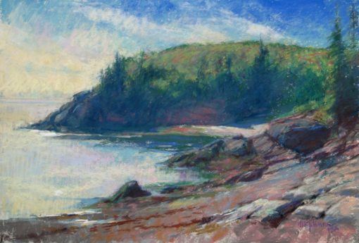 Schooner Cove 12x18 pastel by Michael Chesley Johnson