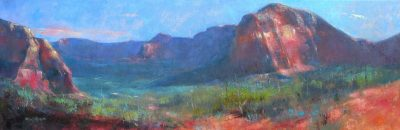 Secret Mountain Wilderness 8x24 oil by Michael Chesley Johnson