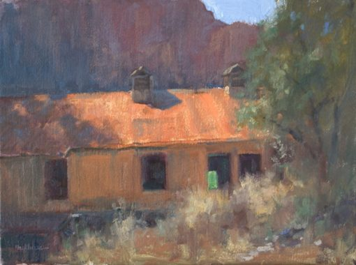 Slide Rock Apple Barn 12x16 oil by Michael Chesley Johnson