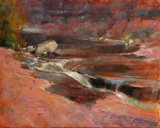 Slide Rock Fault 16x20 oil by Michael Chesley Johnson
