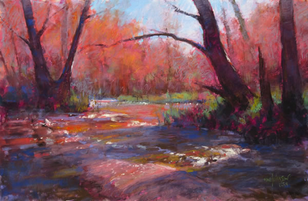 Keepers of the Creek 12x18 Pastel