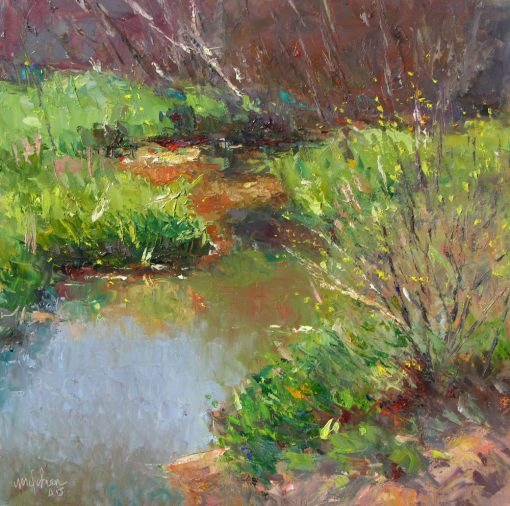 Spring Comes to Arizona 12x12 oil by Michael Chesley Johnson