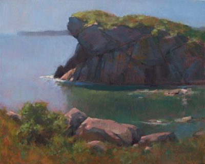 Sugarloaf Rock, High Tide 16x20 oil by Michael Chesley Johnson