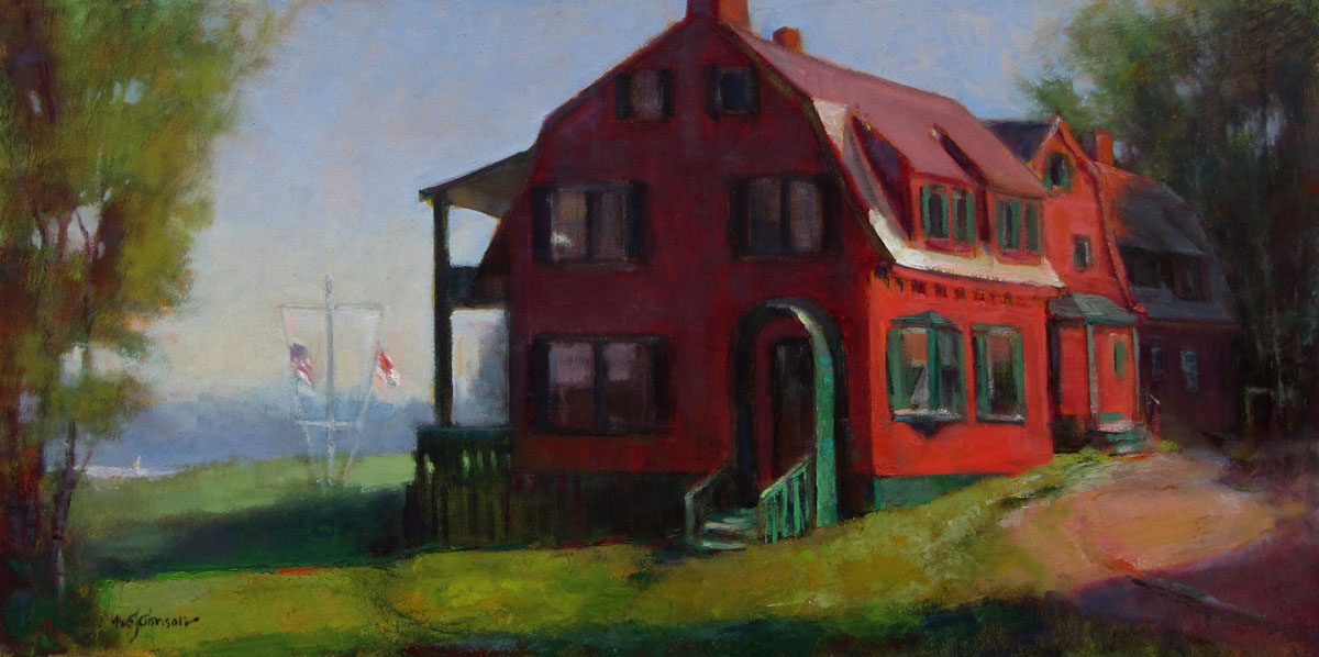 Mr Roosevelt's House (Sunrise at Campobello) 12x24 Oil by Michael Chesley Johnson