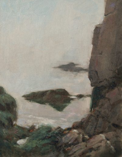 The Mystery Below the Tide 14x11 oil by Michael Chesley Johnson