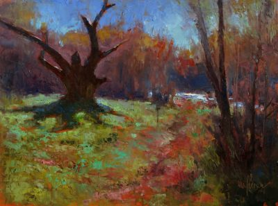 Trina's Trail 12x16 oil by Michael Chesley Johnson