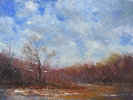 Wake of the Flood 9x12 oil by Michael Chesley Johnson