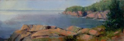 West Quoddy 8x24 oil by Michael Chesley Johnson