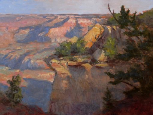 Yaki Point View 12x16 oil by Michael Chesley Johnson