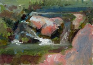 Creek Rock II 5x7 Oil
