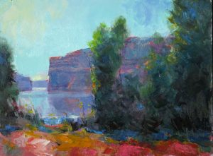 High Desert Lake 9x12 Oil