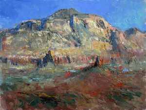Portrait: Thunder Mountain 9x12 oil by Michael Chesley Johnson