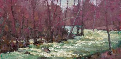 Rushing Waters 8x16 oil by Michael Chesley Johnson
