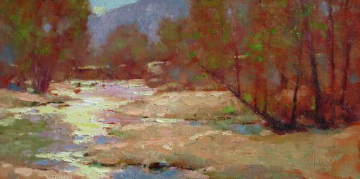 Spring Comes to the Verde River 8x16 Oil