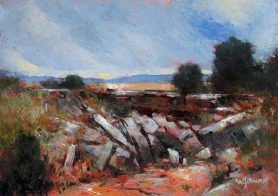 Where the Canyon Begins 12x16 Oil by Michael Chesley Johnson